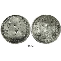 Mexico City, Mexico, bust 8 reales, Charles IV, 1801FT.