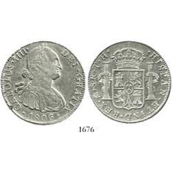 Mexico City, Mexico, bust 8 reales, Charles IV, 1806TH.