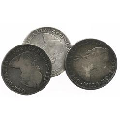 Lot of 3 Mexico City, Mexico, bust 4R, Charles III (1787FM, 1788FM and 1789FM).