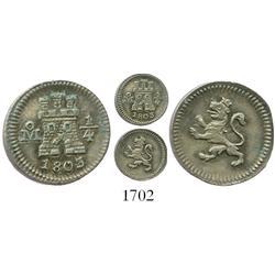 Mexico City, Mexico, 1/4 real, 1803.