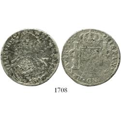 Congress of Chilpanzingo (Veracruz), Mexico, countermark on a Mexico City, Mexico, bust 4R, Charles