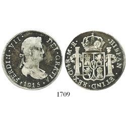 Guadalajara, Mexico, bust 4 reales, Ferdinand VII, 1815MR, scarce.