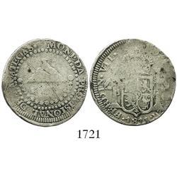 Zacatecas, Mexico, 2 reales, Ferdinand VII, 1811 L.V.O.