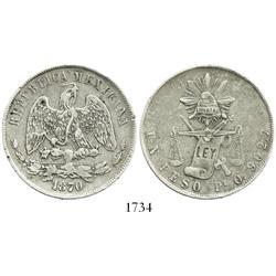 San Luis Potosi, Mexico, 1 peso, 1870O.