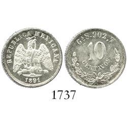 Guadalajara, Mexico, 10 centavos, 1891S.