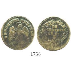 San Luis Potosi, Mexico, copper 1 centavo, 1871, rare.