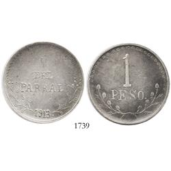 Chihuahua (Hidalgo del Parral), Mexico, 1 peso, 1913.