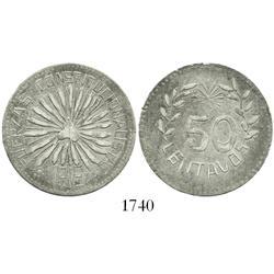 Chihuahua (Hidalgo del Parral), Mexico, 50 centavos, 1913, plain edge.