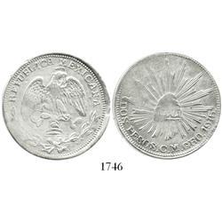 Guerrero (Campo Morado), Mexico, 2 pesos, 1915-C.M. plain-edge variety