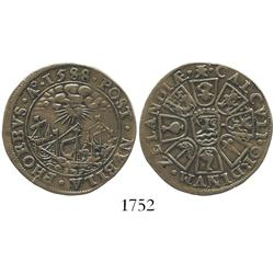Middelburg, Netherlands, copper jeton, 1588, Spanish Armada commemorative, rare.