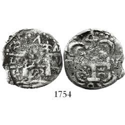 "Nicaragua (Leon), ""imitation cob"" 4 reales, 1823 P.M.P.Y., very rare."