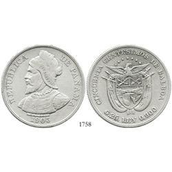 Panama, 50 centesimos de balboa, 1905.