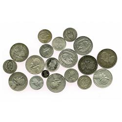 Lot of 19 Panama silver minors, consisting of full date-sets up to 1962 (1930, 1931, 1932, 1933, 193