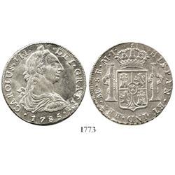 Lima, Peru, bust 8 reales, Charles III, 1785MI.