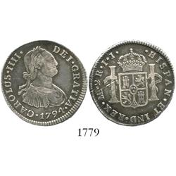 Lima, Peru, bust 2 reales, Charles IV, 1794IJ.