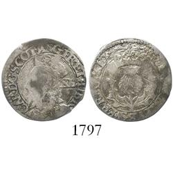 Scotland, 40 pence, Charles I (1625-49), third coinage.