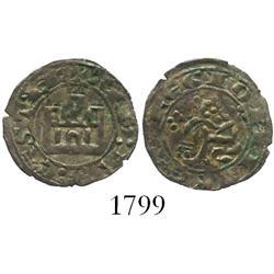 Castile and Leon (Spain), billon maravedi prieto, Alfonso X (1252-84).