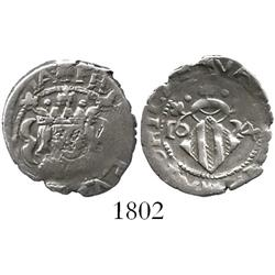 Valencia, Spain, 1 real, Philip IV, 1624, without 1-8 on obverse.