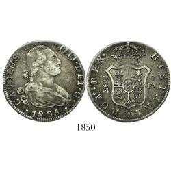 Madrid, Spain, bust 4 reales, Charles IV, 1805FA.