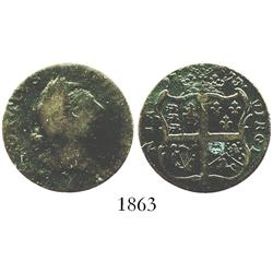 US colonial, Virginia copper halfpenny (Royal Patent Coinage), 1773.