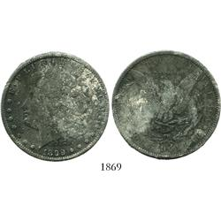 "USA (Philadelphia mint), $1 Morgan, 1899, encrusted as from the ""Sulphur Springs recovery."""