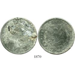 "USA (New Orleans mint), $1 Morgan, 1900-O, encrusted as from the ""Sulphur Springs recovery."""