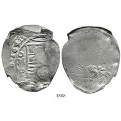 Dominican Republic, cast silver medal (39.9g) made from silver recovered from the Concepcion wreck