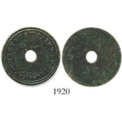 St. Lucia, copper uniface coal token for CHASTANET, scarce, ca. 1870.