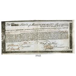 Massachusetts Bay commodity bond, dated January 1, 1780, in the amount of 73 pounds, 18 shillings, 1