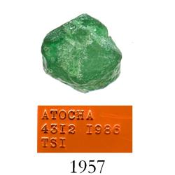 High-quality natural emerald, 3.18 carats.