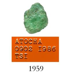 High-quality natural emerald, 0.89 carat.