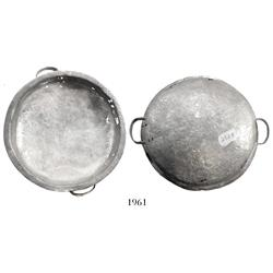 Silver, two-handled bowl.
