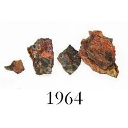 Fragments of iron from the ship's anchor.