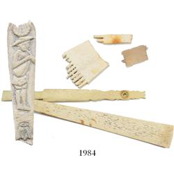 Ivory fan/comb fragments.