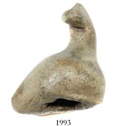 "Miniature clay ""tonalaware"" figurine: duck whistle(?), pictured in Flash of Gold."