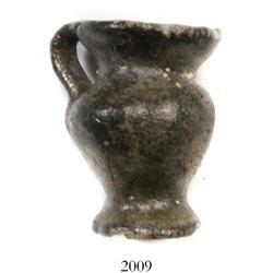 Miniature clay  tonalaware  figurine: single-handled urn.