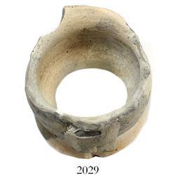 "Two-handled ""tonalaware"" miniature urn (bottom missing)"