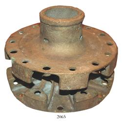 Brass cannon-wheel hub (Boer war).