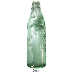 """Codd neck"" soda bottle marked La Oriental."