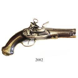 Spanish miquelet flintlock pistol, ca. 1760-80.