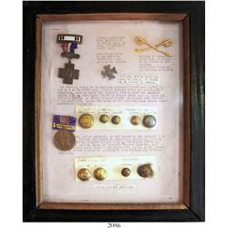 Spanish-American War in Puerto Rico (1898), collection of medals, buttons and other militaria in a s