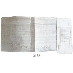 1806 American Revolutionary War-period document, inspection roll of soldiers of the 7th Co. of the 2