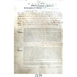 1806 shipping insurance policy from the Washington Insurance Company (founded in 1800) in Providence