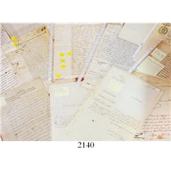 Lot of 32 handwritten documents from late colonial and early Republican Chile and Peru (1775-1838),