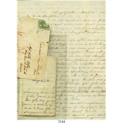 Lot of 3 Civil War-era letters (and a small envelope) dated 1861-9 to/from Texas.