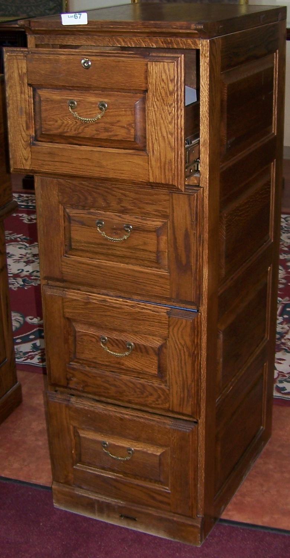 Attirant Oak File Cabinet. 4 Drawer. Loading Zoom
