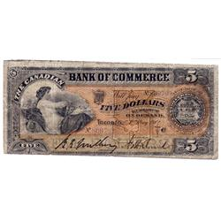 THE CANADIAN BANK OF COMMERCE. $5.00.  May 1, 1912.  CH-75-14-14.  No. 809702/C.  PMG graded VG-10.