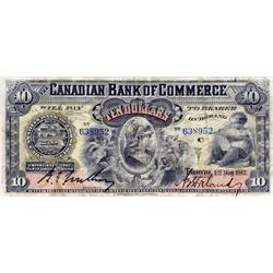 THE CANADIAN BANK OF COMMERCE.  $10.00.  May 1, 1912.  CH-75-14-28.  No. 638952/C.  PMG graded Very