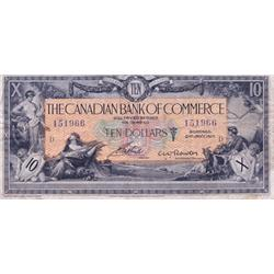 THE CANADIAN BANK OF COMMERCE.  $10.00.  Jan. 2, 1917.  CH-75-16-04-10a.  No. 151966/D.  PMG graded
