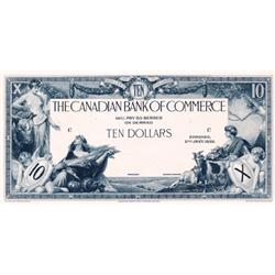 THE CANADIAN BANK OF COMMERCE.  $10.00.  Jan. 2, 1935.  CH-75-18-06P.  A Black and White Face Proof